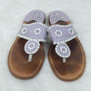 Jack Rogers | Purple Sandals Leather Boho